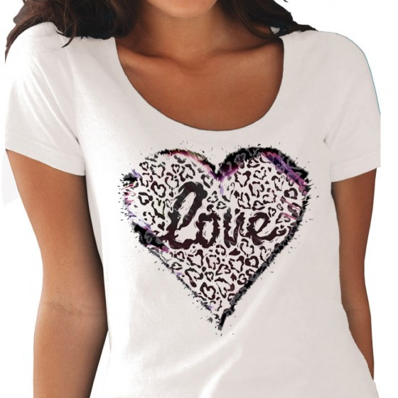 Graphic Love Leopard Tee