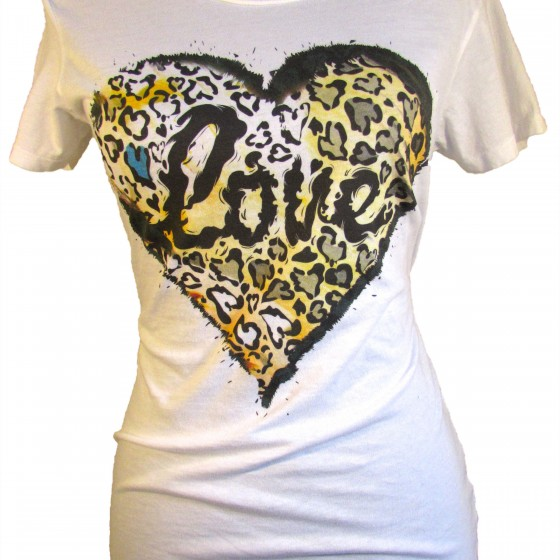 Leopard Heart Love Graphic Tee